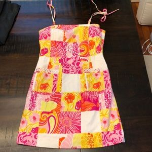 Classic Lilly Pulitzer pink, yellow, orange dress